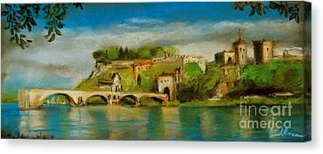 The Bridge Of Avignon Canvas Print by Mona Edulesco