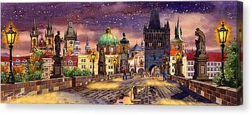 The Bridge Of Magic Canvas Print by Dmitry Koptevskiy