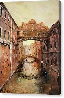 The Bridge Of Sighs Venice Italy Canvas Print