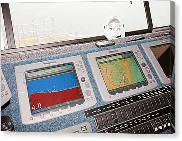 The Bridge Of The Offshore Support Vessel Canvas Print by Ashley Cooper