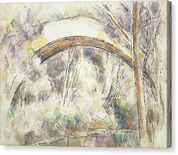 The Bridge Of Trois-sautets, C.1906 Wc & Pencil On Paper Canvas Print by Paul Cezanne