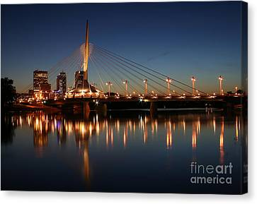 The Bridge Over Calm Waters Canvas Print by Teresa Zieba