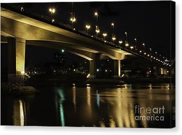 The Bridge Over False Creek Canvas Print