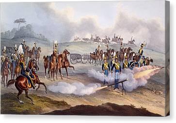 The British Royal Horse Artillery - Canvas Print by William Heath
