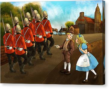 The British Soldiers Canvas Print