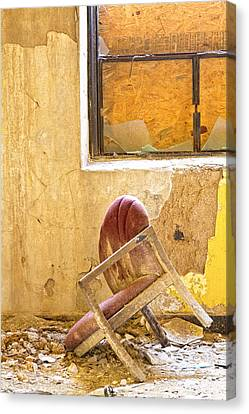 The Broken Chair Canvas Print by Carolyn Fox