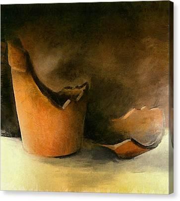 The Broken Terracotta Pot Canvas Print by Michelle Calkins