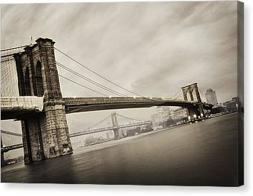 Brooklyn Bridge Canvas Print - The Brooklyn Bridge by Eli Katz