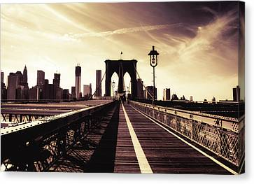 The Brooklyn Bridge - New York City Canvas Print by Vivienne Gucwa