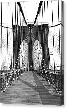 1923 Canvas Print - The Brooklyn Bridge by Underwood Archives