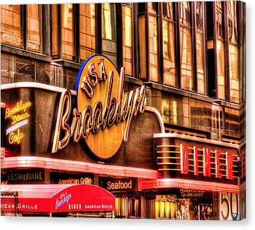 The Brooklyn Diner And Cafe 001 Canvas Print