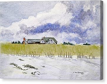 The Brown House On East Beach Canvas Print