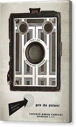 The Brownie Junior Six-20 Camera Canvas Print by Tom Mc Nemar