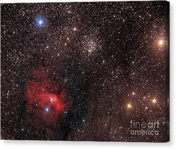 The Bubble Nebula, An Emission Nebula Canvas Print by Roberto Colombari
