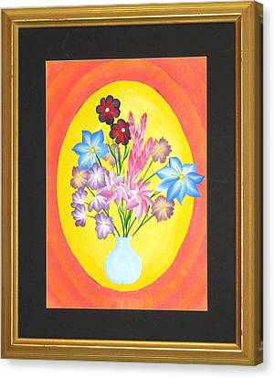 Canvas Print featuring the painting The Bud Vase by Ron Davidson