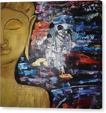 The Buddha Way Canvas Print by Meenakshi Chatterjee