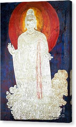 Canvas Print featuring the painting The Buddha's Light by Fei A