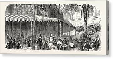 The Buffet At The Universal Exposition Buffet Canvas Print by French School