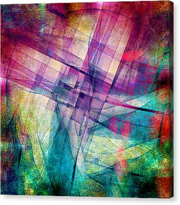 Abstract Canvas Print - The Building Blocks by Angelina Vick