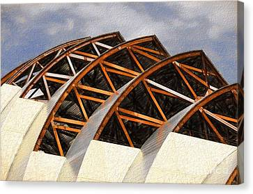The Building Of Kauffman  Canvas Print by Liane Wright