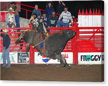 The Bull Rider Canvas Print by Larry Van Valkenburgh