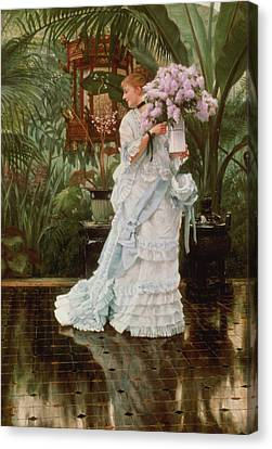 The Bunch Of Lilacs, 1875 Canvas Print by James Jacques Joseph Tissot