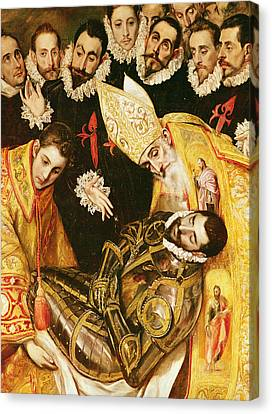The Burial Of Count Orgaz Canvas Print by El Greco Domenico Theotocopuli