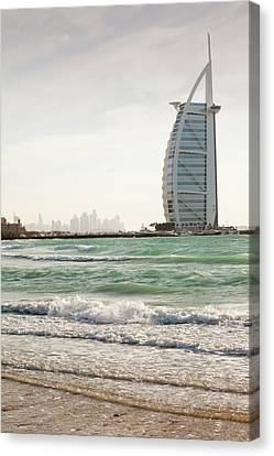 The Burj Al Arab Hotel Canvas Print by Ashley Cooper