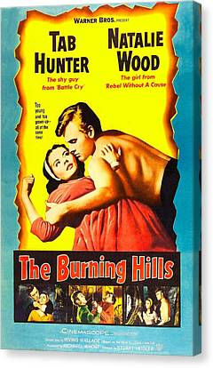 The Burning Hills, L-r Natalie Wood Canvas Print by Everett
