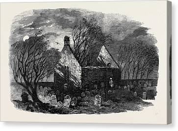 The Burns Centenary Alloways Auld Haunted Kirk Canvas Print by English School