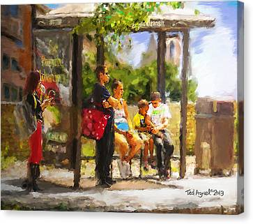 The Bus Stop Canvas Print