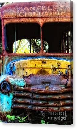 The Bus Stops Here Canvas Print
