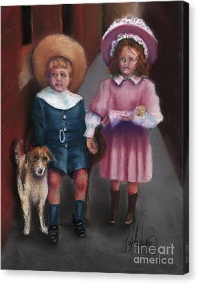 The Buster Browns Canvas Print by Leah Wiedemer