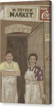 The Butcher And His Wife  Canvas Print by Arlene Crafton