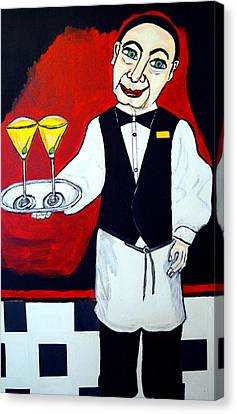Canvas Print featuring the painting The Butler  by Nora Shepley