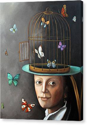 The Butterfly Keeper 1 Canvas Print by Leah Saulnier The Painting Maniac