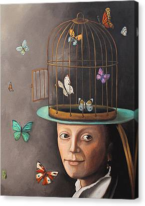 The Butterfly Keeper Edit 2 Canvas Print by Leah Saulnier The Painting Maniac