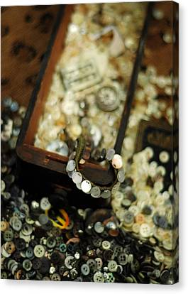 The Button Drawer Canvas Print by Rebecca Sherman
