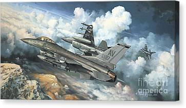 The Buzzard Boys From Aviano Canvas Print by Randy Green