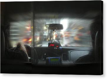 The Cab Ride Canvas Print by Mike McGlothlen