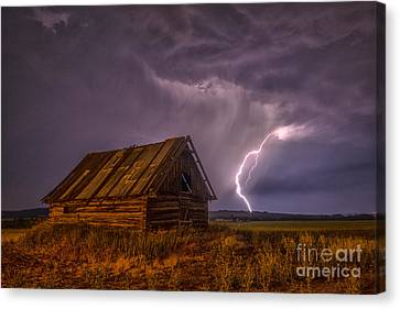 The Cabin Canvas Print by Darcy Shawchek