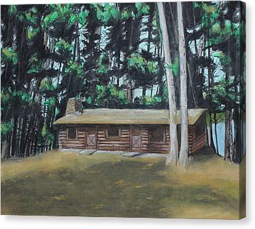 The Cabin Canvas Print by Jeanne Fischer