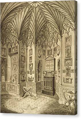 The Cabinet, Engraved By T. Morris Canvas Print by English School