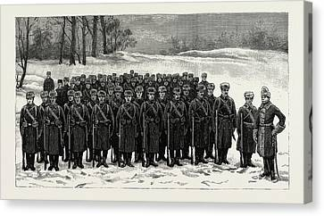 The Cadets In Winter -costume, British Naval Defences Canvas Print by Litz Collection