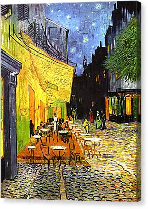 The Cafe Terrace On The Place Du Forum Canvas Print