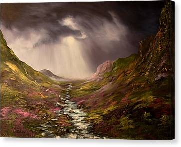The Cairngorms In Scotland Canvas Print by Jean Walker
