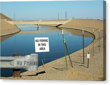 The California Aqueduct Canvas Print by Ashley Cooper