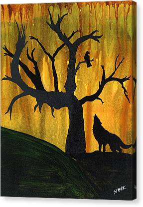 The Call And Response Of The Wild Canvas Print by Jim Stark