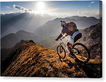 Downhill Canvas Print - The Call Of The Mountain by Sandi Bertoncelj