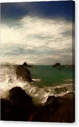 The Call Of The Sea Canvas Print by John K Woodruff